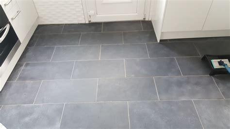 Black Slate Kitchen Tiles Rejuvenated in Paisley   Tile