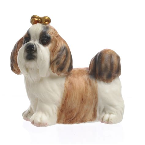 shih tzu figurine small shih tzu figurine table and shelf sitters home decor