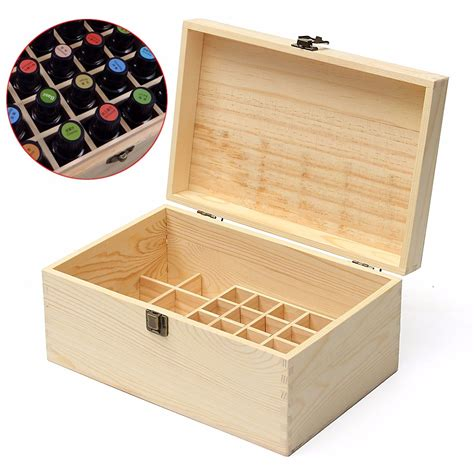 Storage Boxes Bottles Set A 32 grids wooden bottles box storage for essential 5 100ml alex nld