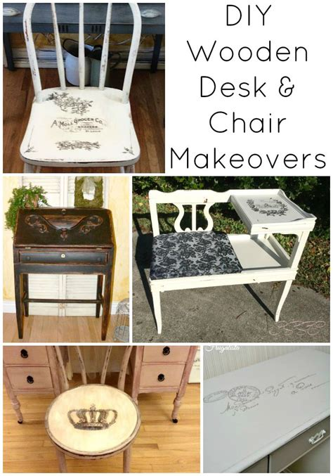 diy desk chair 8 diy wooden desk and chair makeovers the graphics