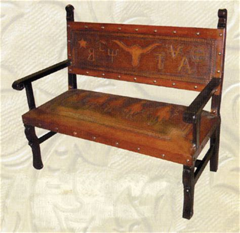 western bench heritage bench with tooled brands western benches free