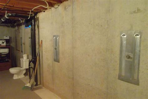 basement wall anchor plates foundation wall repair with anchors at home in oshkosh wi