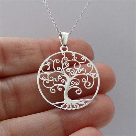 Tree Friendly Pendant Necklace by Tree Of Filigree Necklace 925 Sterling Silver New