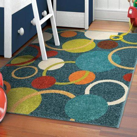 carolina weavers area rugs carolina weavers playroom collection rainbow circle blue