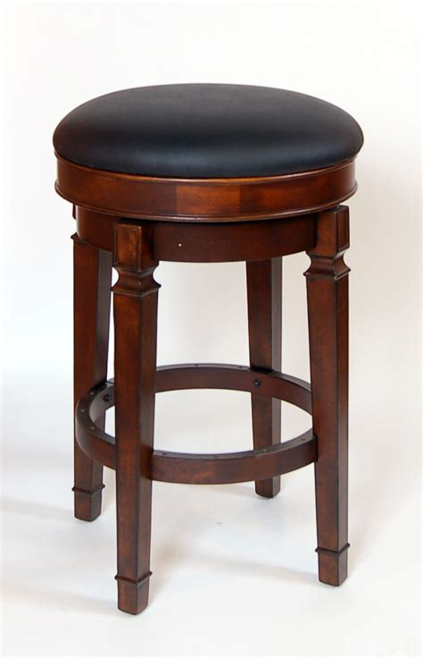 strong bar stools pair of walnut heavy strong bar height backless swivel