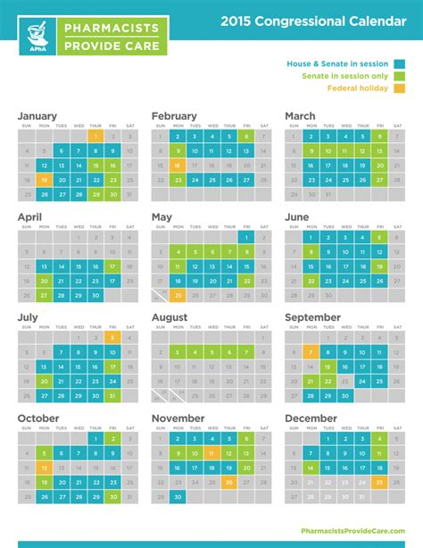 Uf Mba Program Calendar by 2015 Congressional Calendar American Pharmacists Association