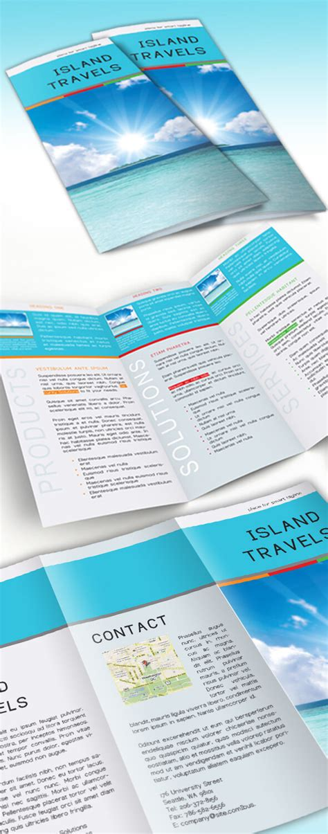 tri fold brochure indesign template free indesign tri fold brochure template