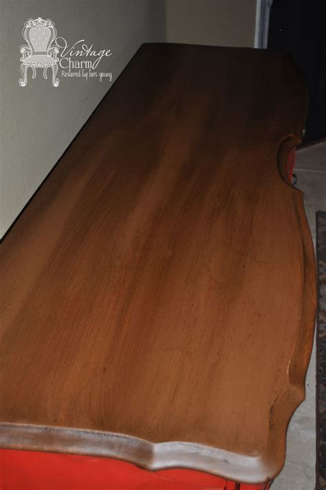 chalk paint stained wood staining on top of chalk paint to create that wooden look