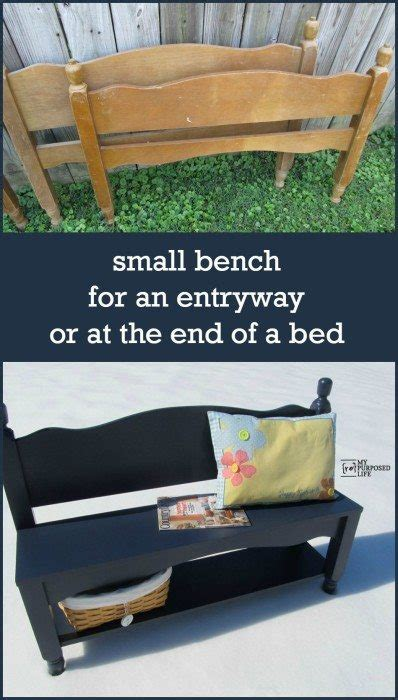 making a bench out of a bed how to make a headboard bench