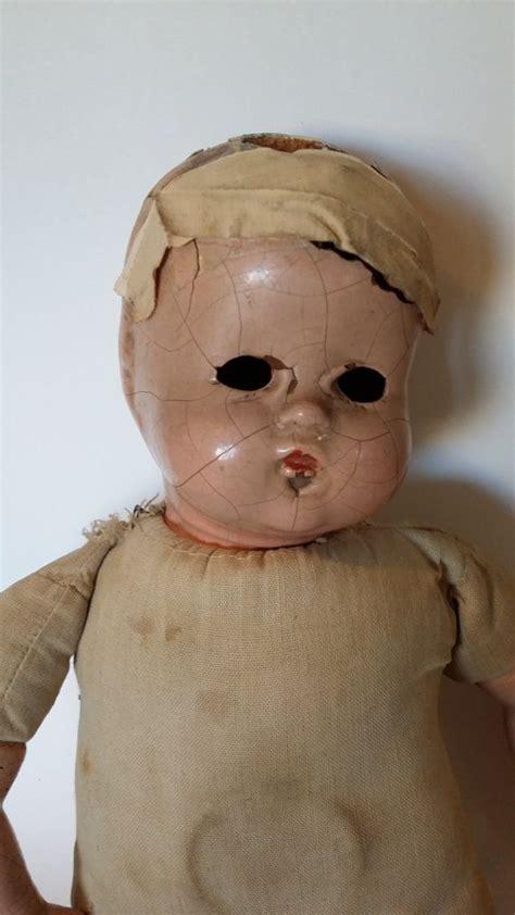 vintage composition doll restoration antique creepy composition doll oddities collection doll
