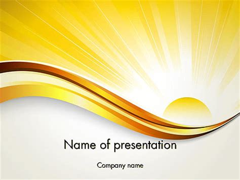 ppt themes sun rising sun powerpoint template backgrounds 12342