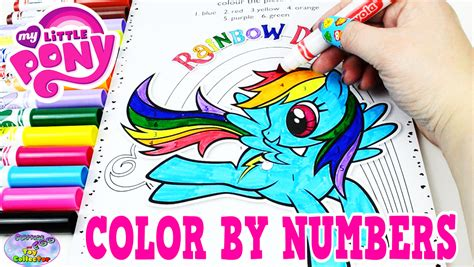 my pony color my pony color by numbers coloring book mlp colors