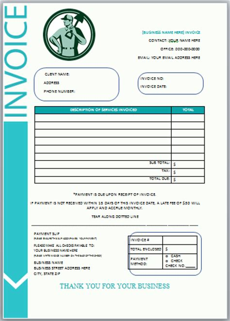 landscaping invoice template what to include in the general format 10 free landscaping invoice templates professional