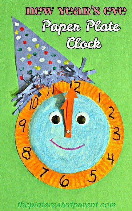 christmas eve crafts for preschool kids new year s paper plate celebration clock new years crafts ideas new year s crafts