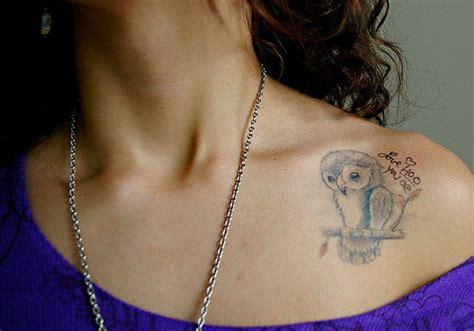 cute collar bone tattoos this is 25 pretty owl designs