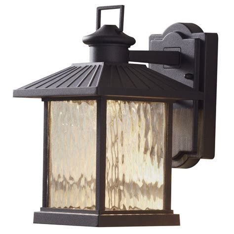 hton bay lumsden 7 in black outdoor integrated led