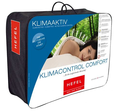 control comfort hefel klima control comfort ganzjahresdecke 135x200 tencel