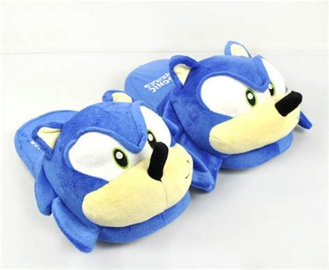 sonic the hedgehog slippers sonic the hedgehog plush slippers beecomfee