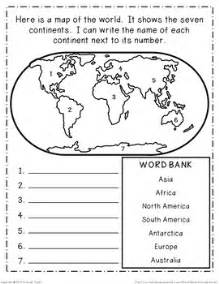us map quiz no word bank continents and oceans geography research book study cards
