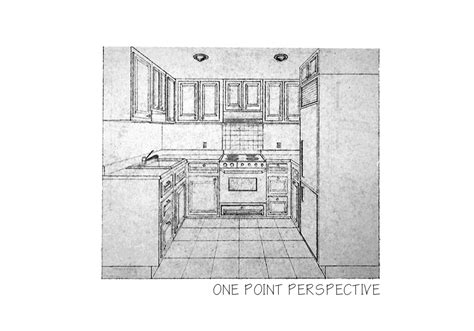 kitchen perspective one point images