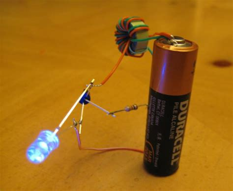 adding capacitor to joule thief make a joule thief 4 steps with pictures