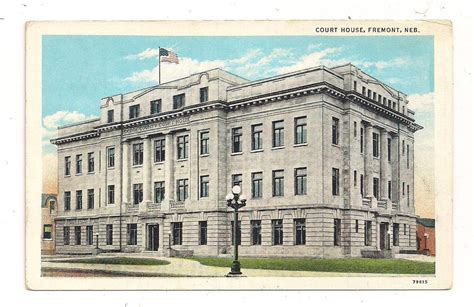 Nebraska Courts Search Free Court House Fremont Ne Dodge County Postcard 051413 Ebay