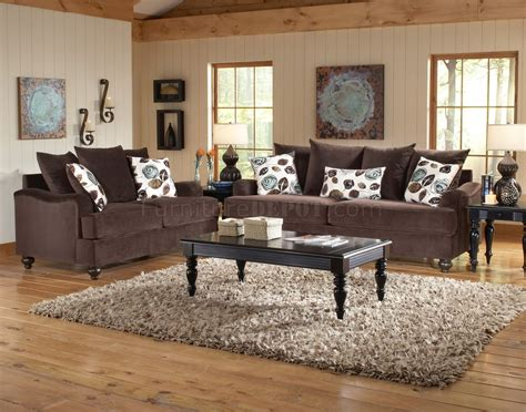 chocolate living room bella chocolate fabric living room sofa loveseat set