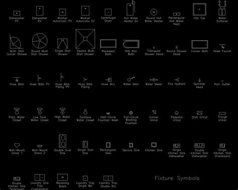 autocad detail fixture symbols dwg