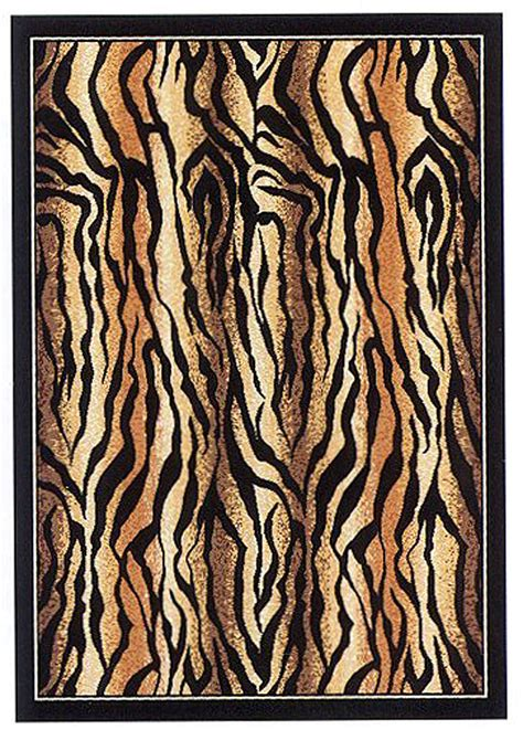 tiger floor rug tiger skin area rug 6x8 stripes carpet actual 5 3 quot x 7 2 quot ebay