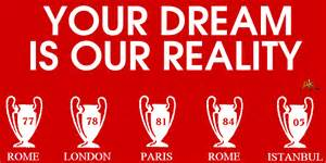 European cups your dream is our reality lol yahoo answers