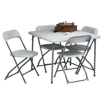 childrens folding table and chairs costco 5 resin folding table and chair set