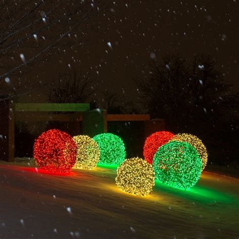 christmas decorative light balls led light balls illuminate outdoor spaces transitional