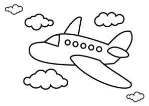 airplane coloring pages for preschool download