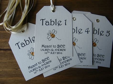 Wedding Name Tags by Personalised Wedding Table Number Name Tags Meant To Bee