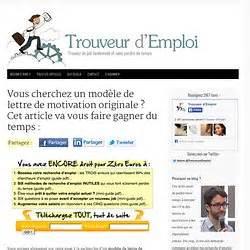 Modèles De Lettre De Motivation Lettre De Motivation Originale Employment Application