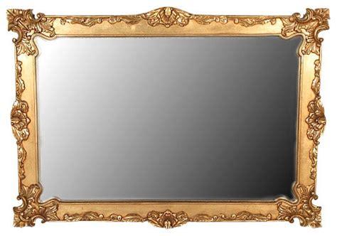 Antique Victorian Vases Gold Baroque Framed Mirror Solid Mahogany 6 Victorian