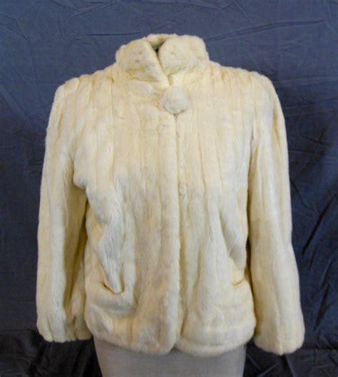 ermine color s ermine fur coat length creme color one but