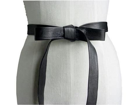 black leather tie belt mano bello