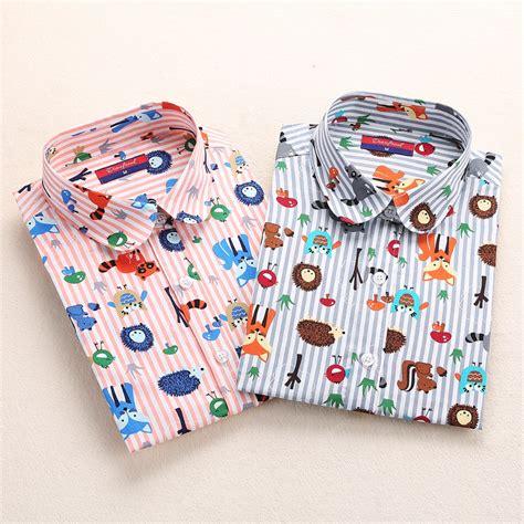 Baju Pdh Polos Size 14 dioufond blouses sleeve shirts animal print cotton tops vintage blusas