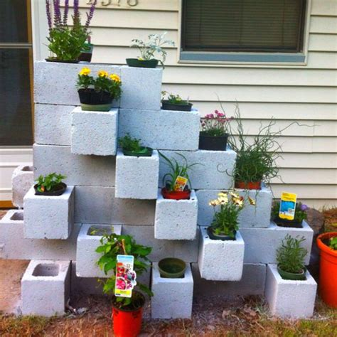 concrete blocks for garden walls cinder block garden step 2 gardening
