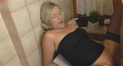 German Busty Milf Blonde Gets A Creampie In Her Wet Pussy