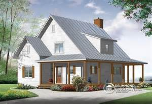 Best Farmhouse Plans by House Plan W3518 V1 Detail From Drummondhouseplans Com