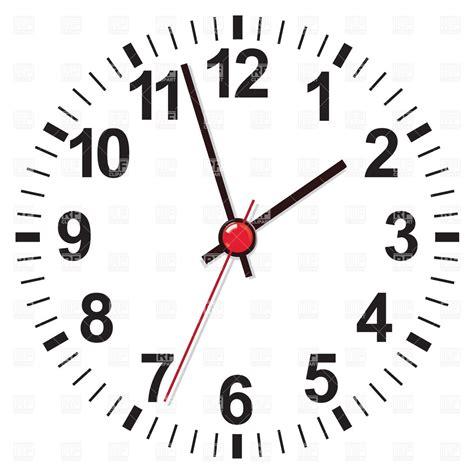 template clock vector white clock face royalty free vector clip art image 27704