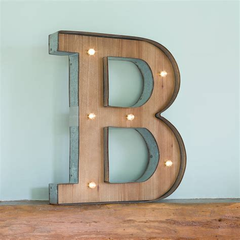wooden letters with lights wooden alphabet letter led light by all things brighton