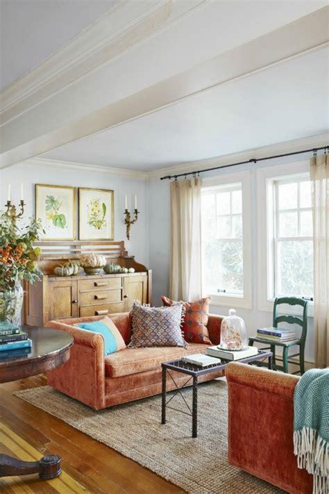 dekorieren eines wohnzimmers dekoideen herbst farbinspiration aus der natur