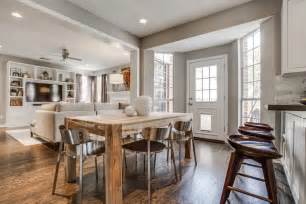 kitchen dining room decorating ideas transitional family room kitchen combo decosee