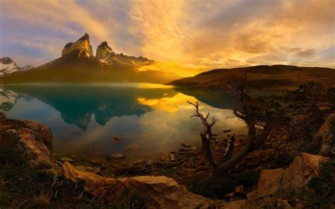 sunset national park torres del paine patagonia