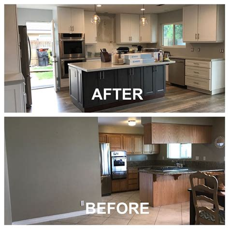 upgrading kitchen cabinet redo doors amazing transformation just before and after kitchen makeover by cabinet wholesalers
