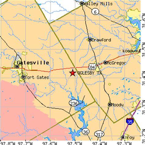 mcgregor texas map oglesby texas tx population data races housing economy