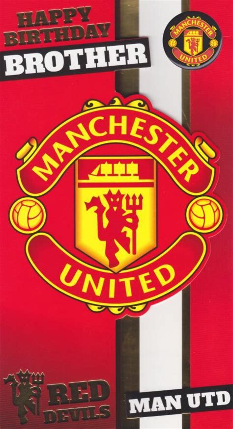 manchester united birthday card template manchester united birthday card with badge